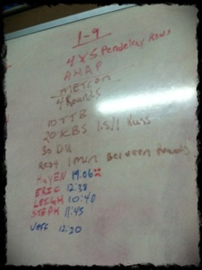 1/9/13 WOD (sorry for the blur)