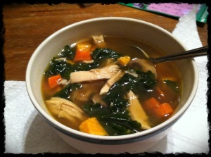 1/12/13 Dinner - Chicken soup deliciousness