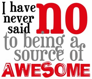 I have never said No to being a source of awesome - craftsnark