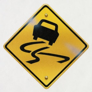 swerving car