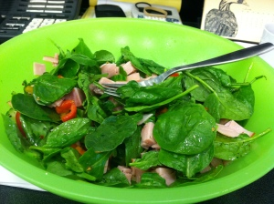 Nice salad full of protein and fat!