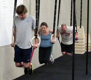 Not me in this pick but this is what I look like doing modified dips with bands.