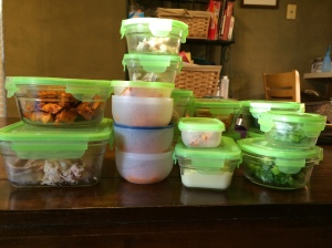 Some of the foods already packed up and ready to go!