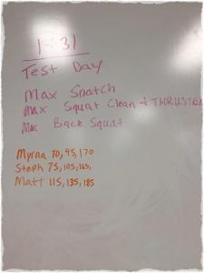 1/31/14 Test Day